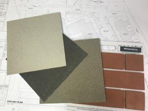 The exterior colour samples