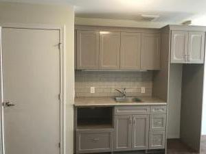 Kitchenette and closet