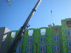 The last section of Coreslabs for the roof