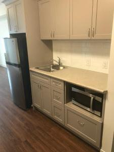 Kitchenette in units 1014, 2014, 3014, etc.